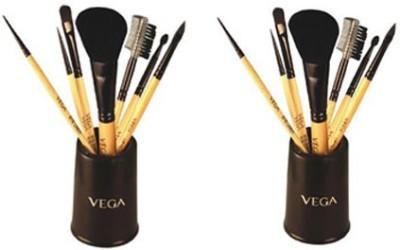 Vega Set Of Seven Make-up Brushes-EVS07