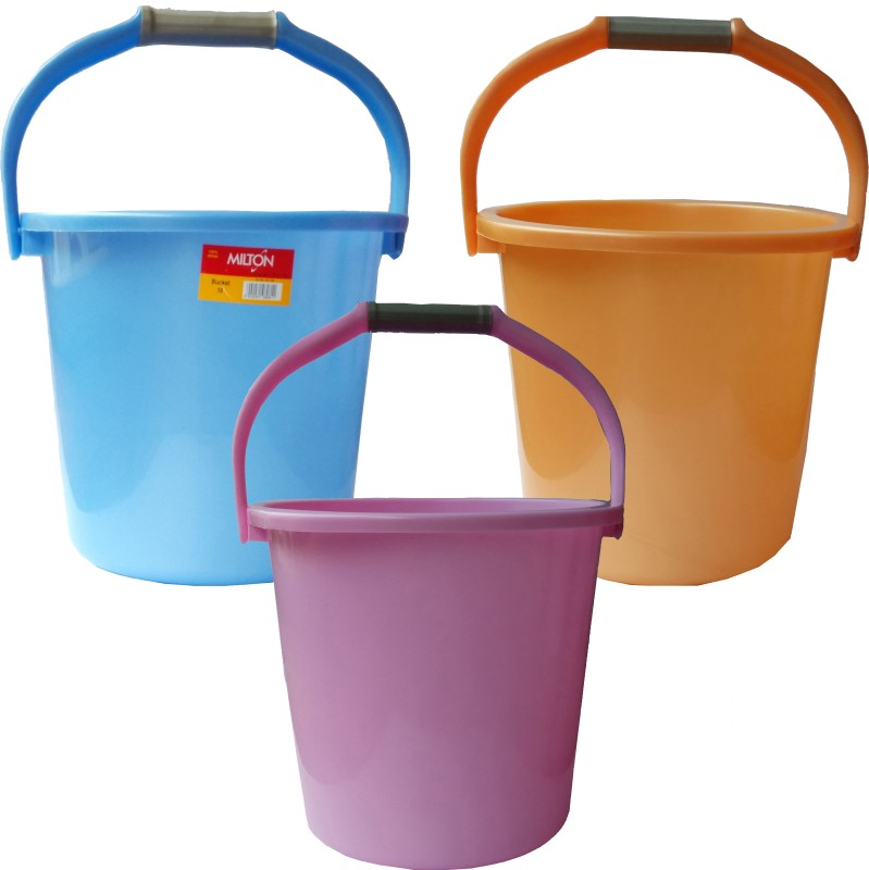Milton New 22 L Plastic Bucket(Multicolor)