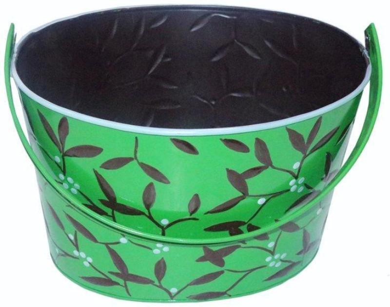 Decorifyme 15 L Iron Bucket(Green)