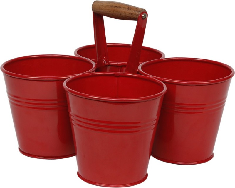 Elan 2 L Steel Bucket(Red)