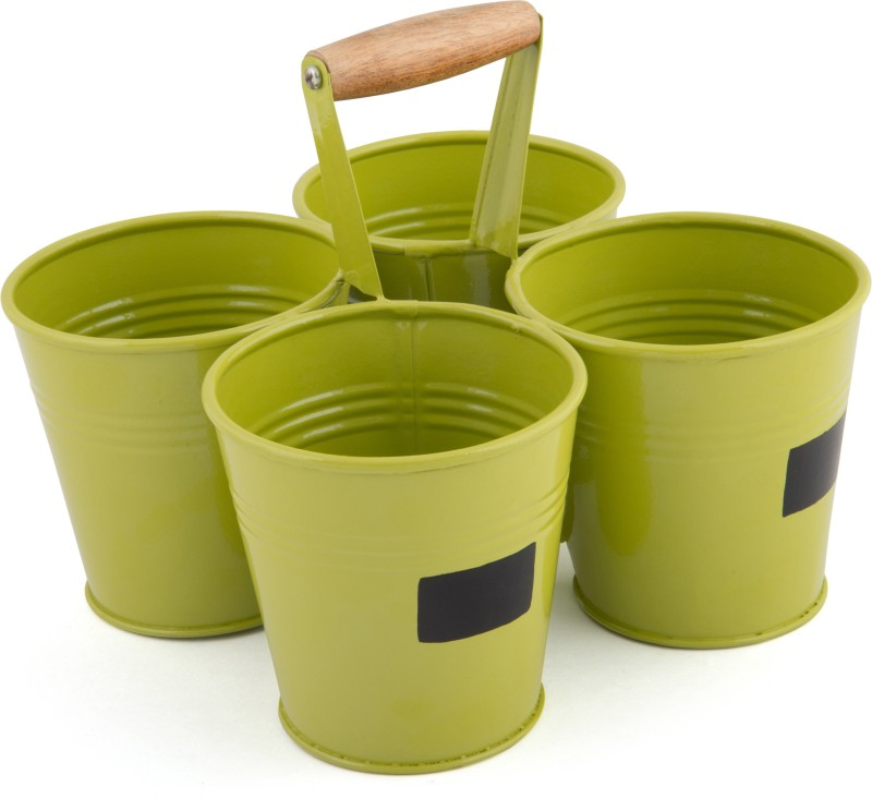Elan 2 L Steel Bucket(Green)