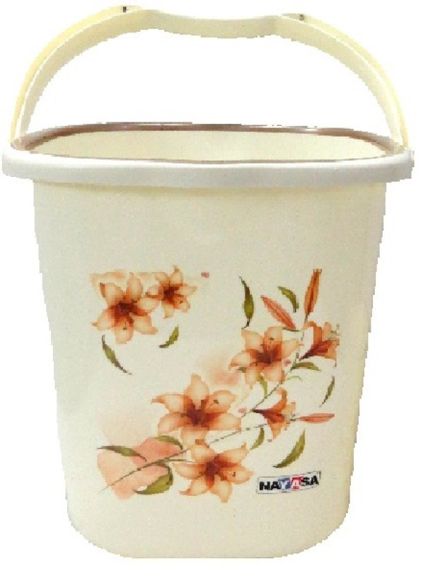 Nayasa 18 L Plastic Bucket(White)