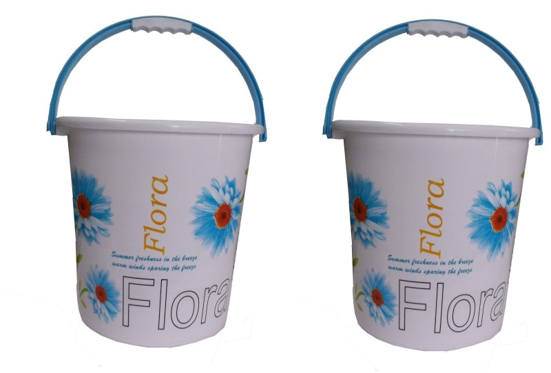 Nayasa 20 L Plastic Bucket(Blue, Red)
