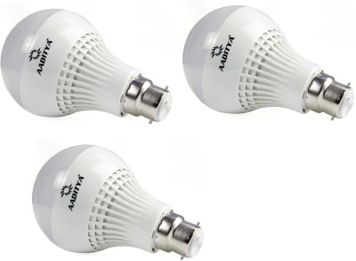 Aaditya-9W-B22-LED-Bulb-(White,-Pack-of-3)