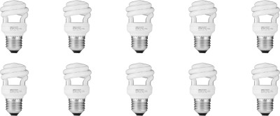 Osram 8W E27 Spiral CFL Bulb (White, Pack of 10)