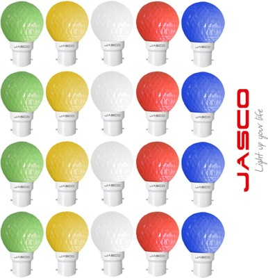 Jasco 0.5W B22 LED Bulb (Multicolors, Pack Of 20)