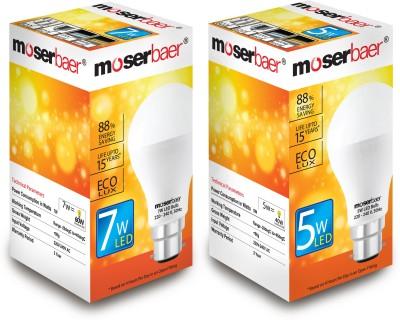 Moserbaer B22 LED 5 W, 7 W Bulb