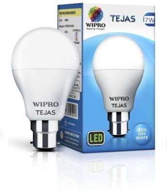 Wipro 7 W Standard B22 LED Bulb(White)