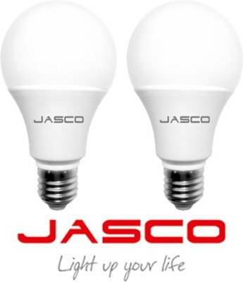 Jasco 7W E27 LED Bulb (White, Pack Of 2)