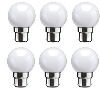 Syska 0.5 W Standard B22 LED Bulb(White, Pack of 06)