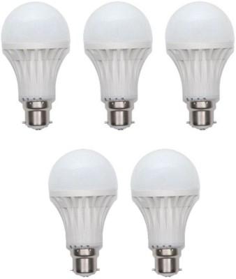 Durable 12 W Standard B22 PVC Bulb(White, Pack of 5)