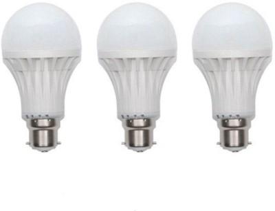 Smart 15 W Standard B22 PVC Bulb(White, Pack of 3)