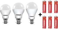 Eveready 7 W, 9 W, 12 W Standard B22 D LED Bulb(White, Pack of 9)