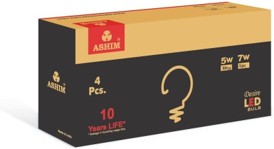 Ashim Desire 7W (Pack Of 2) And 5W (Pack Of 2) LED Bulb (Cool Day Light)