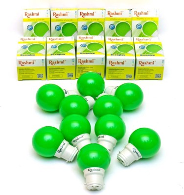 Rashmi 0.5W B22 LED Bulb (Green, Pack Of 10)