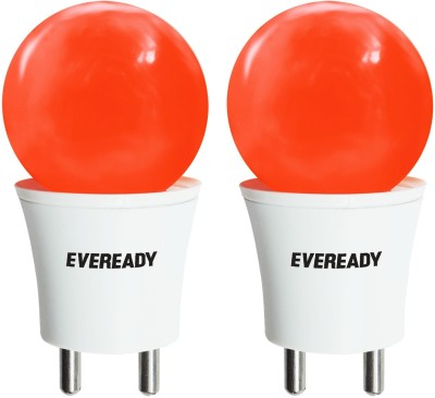 Eveready 0.5 W Plug & Play LED Bulb(Red, Pack of 2)