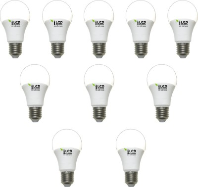 Imperial 9W-WW-E27-3627 Screw LED Bulb (Yellow, Pack Of 10)