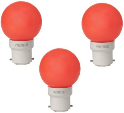Pyrotech-0.5W-LED-Bulb-(Red,-Pack-of-3)