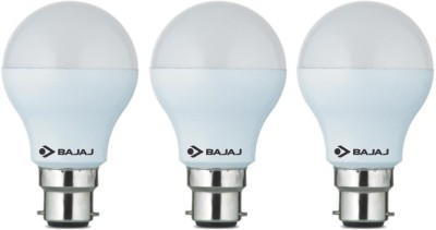 Bajaj 5 W B22 LED Bulb(White, Pack of 3)