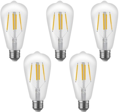 Imperial ST01 4W E27 LED Filament Bulb (Yellow, Pack Of 5)