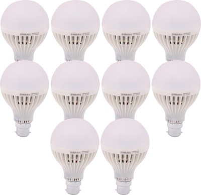 Swarn 9W B22 800L LED Bulb (White, Pack Of 10)