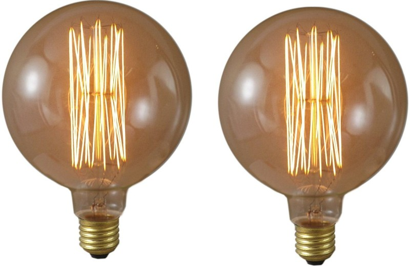 Ryna 40 W Standard E27 Incandescent Bulb(Yellow, Pack of 2)