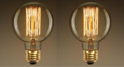 Anasa 40 W Globe ES27 Flouroscent Bulb(White, Pack of 2)