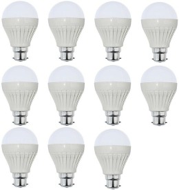 Parax 9 W Standard B22 LED Bulb(White, Pack of 11)