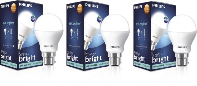 Philips Stellar Bright 10.5W B22 1055L LED Bulb (Cool Day Light, Pack Of 3)