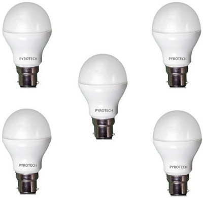 Pyrotech 9 W LED Bulb (Cool White, Pack of 5)