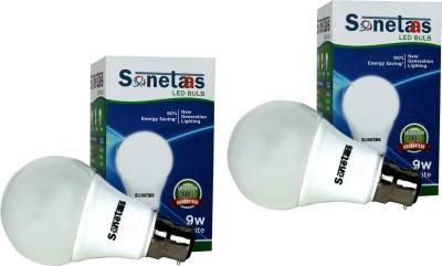 Sonetaas 9W B22 LED Bulb (Pack Of 2, White)