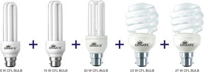 Ornate B22 CFL 8 W, 15 W, 20 W, 23 W, 27 W Bulb