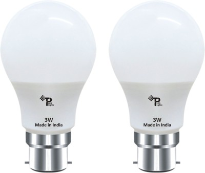 Tp 3W B22 LED Bulb (Pack Of 2 ,White)