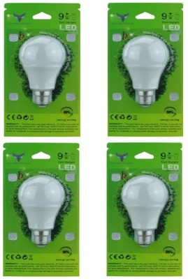 Chemox-9W-B22-LED-Bulb-(White,-Pack-of-4)
