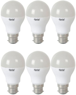 Ajanta 5W LED Bulb (White, Pack of 6)
