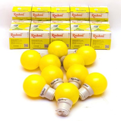 Rashmi 0.5W B22 LED Bulb (Yellow, Pack Of 10)