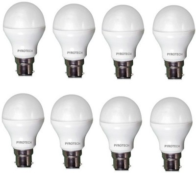 Pyrotech 7 W B22 LED Bulb (Cool White, Pack of 8)