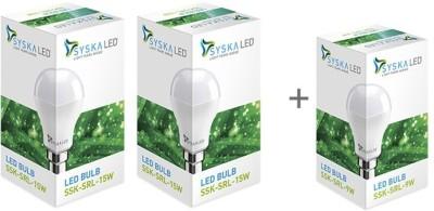 Syska SSK-SRL 15W B22 LED Bulb (Cool Day Light, Pack Of 3)