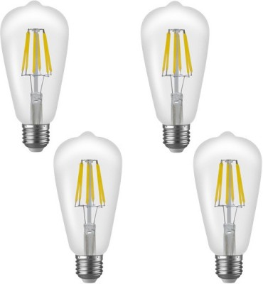 Imperial 16182 ST01 6W E27 LED Filament Bulb (White, Pack Of 4)