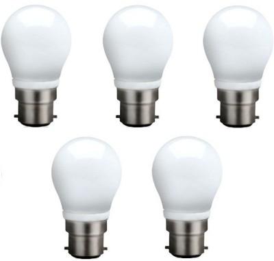 Syska Led Lights 3 W B22 LED Bulb(White, Pack of 5)