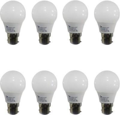 Syska Led Lights 3 W B22 LED Bulb(White, Pack of 8)