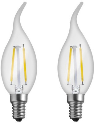 Imperial LWP02 2W E14 LED Filament Bulb (White, Pack Of 2)