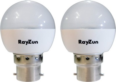 RayZun 3W B22 LED Bulb (White, Pack of 2)