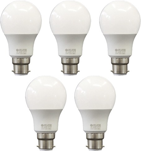 Polycab 9 W Standard B22 LED Bulb(White, Pack of 5) Image
