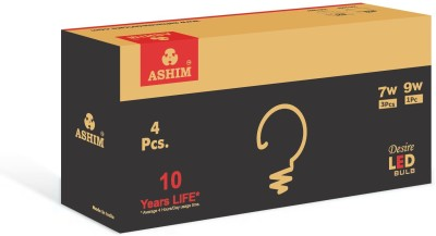 Ashim Desire 7W (Pack Of 2) And 9W (Pack Of 2) LED Bulb (Cool Day Light)