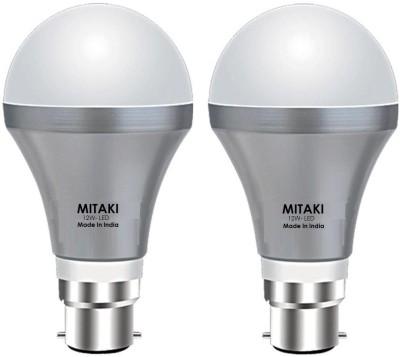 Mitaki M12EB22 12W LED Bulb (White, Pack of 2)
