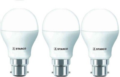STARCO-7W-B22D-LED-Bulb-(Yellow,-Pack-of-3)