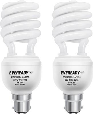 Eveready 27 W B22 CFL Bulb(White, Pack of 2)