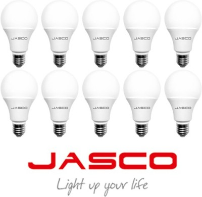 Jasco 9W E27 LED Bulb (White, Pack Of 10)