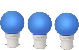 Pyrotech 0.5W LED Bulb (Blue, Pack of 3)